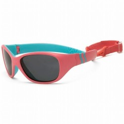 Ochelari de soare Real Kids Shades Adventure - Carribean Blue White