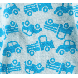 "Leggings lana merinos Crawler ""growing"" Cars turquoise / turquoise rims"
