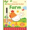 Wipe-clean dot-to-dot farm - Usborne