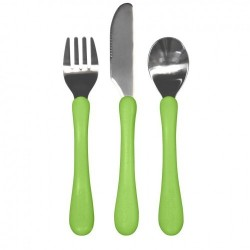 Set tacâmuri de învățare - Learning Cutlery - Green Sprouts iPlay - Green