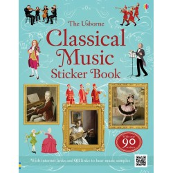 Classical music sticker book - Usborne