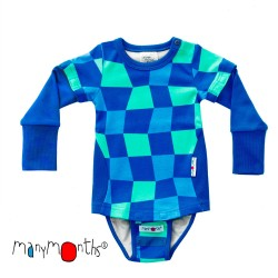 Body/Tricou (4 in 1) din bumbac organic ManyMonths Eco - Water Jump