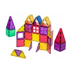 Set Playmags - 60 Piese Magnetice De Construcție + 6 Accesorii