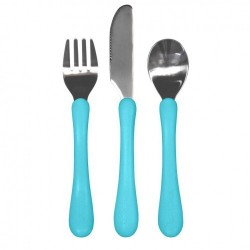Set tacâmuri de învățare - Learning Cutlery - Green Sprouts iPlay - Aqua