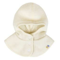 Cagula Joha windbreaker din lana merinos fleece - White