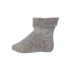 Sosete groase mp Denmark din lână Wool Terry - Light Brown Marled
