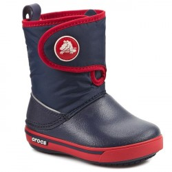 Cizme de iarna Crocs - Crocband II.5 Gust Boot Kids - Navy/Red