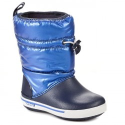 Cizme de iarna Crocs - Crocband Iri Gust Boot Kids - Navy/Sea Blue