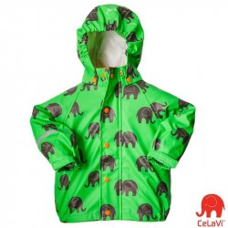 Pelerină de ploaie si windstopper - CeLaVi - Elephants on Green