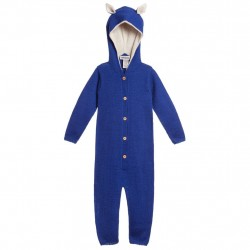 Overall Waddler baby alpaca - Blue/White