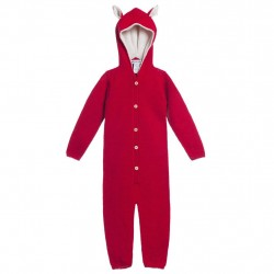 Overall Waddler baby alpaca - Red/White