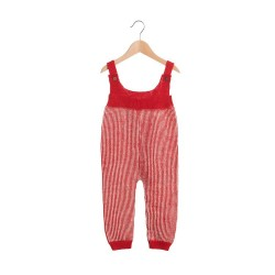 Salopeta Waddler baby alpaca - Elwood Red/White