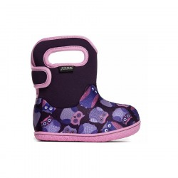 Baby Bogs Owls Purple Multi