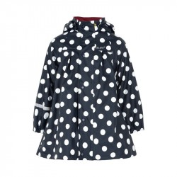 Pelerină de ploaie si windstopper - CeLaVi - Polka Dots on Black