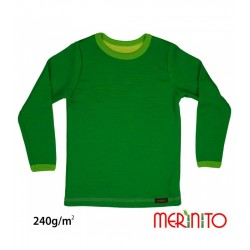 Bluza copii merino + bambus 240g Merinito - Verde Jungle