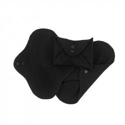 Absorbante intime din bumbac organic Panty liners Black - ImseVimse (3 buc)