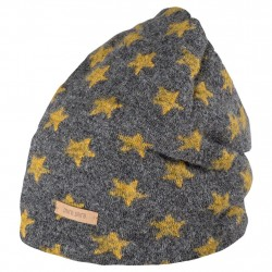 Caciula Pure Pure din lână organica boiled wool (long beanie) Stars - Slate/Honey