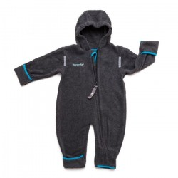 Costum din fleece - Anthracite turquoise - Hoppediz