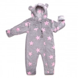 Costum din fleece - Grey rosé - Hoppediz