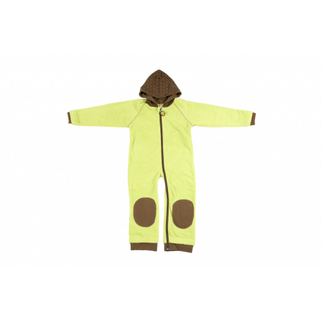 Overall din fleece lime - brown - Ducksday