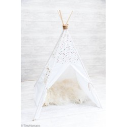 Cort Teepee Stars on White - 4 bete