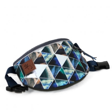 Borseta Blue and grey triangles - Delikates