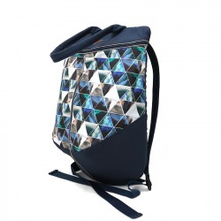 Rucsac Blue and gray triangles - Delikates