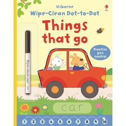Wipe-clean dot-to-dot things that go - Usborne