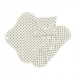 Absorbante intime din bumbac organic Panty liners - ImseVimse (3 buc) - Black Dots