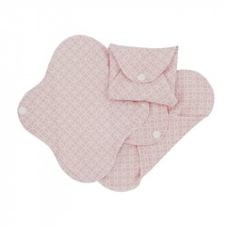 Absorbante intime din bumbac organic Panty liners - ImseVimse (3 buc) - Pink Halo