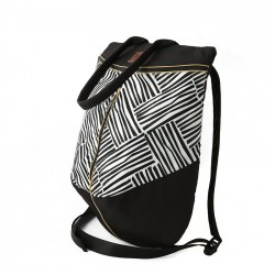 Rucsac black and white stripes - Delikates Accessories