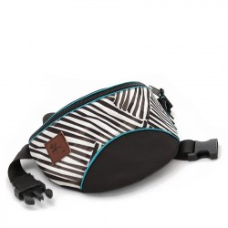 Borseta black and white stripes - Delikates Accessories