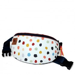 Borseta semicircular with colorfull dots - Delikates Accessories