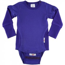 Body/Tricou (4 in 1) ManyMonths cânepă si bumbac organic - Blue Purple