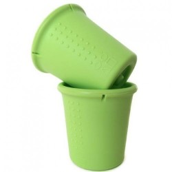 Set 2 pahare din silicon - Silikids - Lime