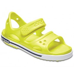 Sandale Crocs - Crocband Sandal Kids - Tennis Ball Green/White