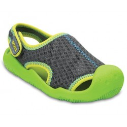 Sandale Crocs - Swiftwater - Graphite / Volt Green