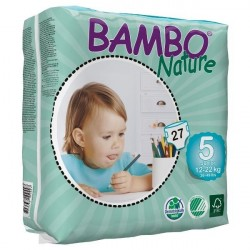 Scutece copii Bambo Nature Junior nr 5, 12-22 kg, 27 buc