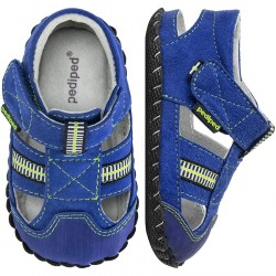 Papucei Pediped ORIGINALS® Gustan Blue/Lime