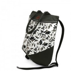 Rucsac Black and White Flowers Beetle - Delikates Accessories