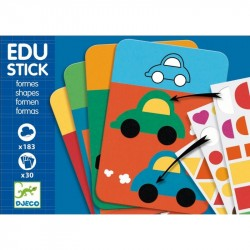 Edu-Stick Djeco, Stickere educative cu forme geometrice