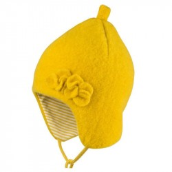 Caciula Pure Pure fleece lana organica Flowers - Lemon Curry