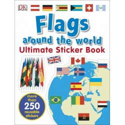 Flags Around the World Ultimate Sticker Book - by DK