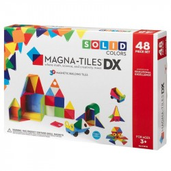 Set magnetic Magna-Tiles Solid Colors Deluxe (48 piese)