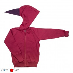 Hoodie ManyMonths din lana merinos - Frosted Berry