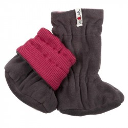Botosei ManyMonths Winter Booties pt babywearing - Frosted Berry/Magnet Grey