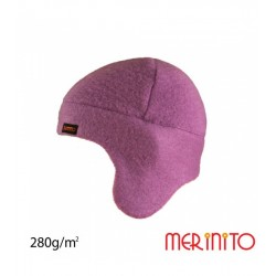 Caciula copii Soft Fleece 100% lana merinos - Merinito - Orchid Smoke