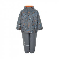 Set impermeabil cu fleece - CeLaVi - Steel Grey