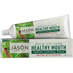 Pasta de dinti anti-placa si tartru - Healthy Mouth - pentru gingii iritate - Jason 119 g