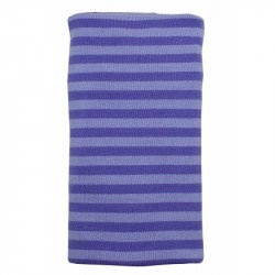 Paturica din bumbac organic - Purple Striped - ImseVimse